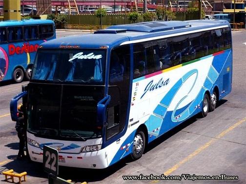 Bus de la empresa Julsa en Arequipa