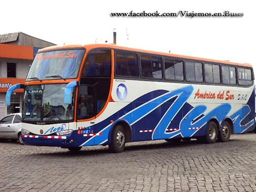 Nuevo bus Marcopolo 1550 LD de la empresa America del Sur