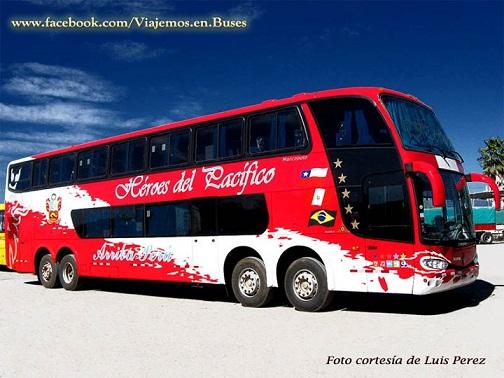 Nuevo bus Marcopolo 1800 DD de la empresa HEROES DEL PACIFICO