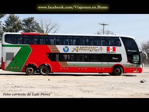 Nuevo bus Marcopolo de la empresa AMERICA EXPRESS