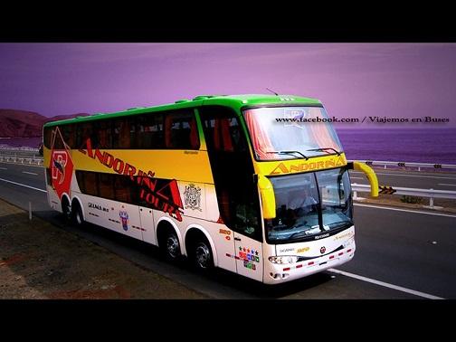 Nuevo bus Marcopolo de la empresa Andorina
