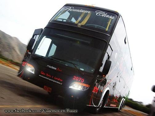 Nuevo bus Modasa Zeus para la empresa chilena TALCA PARIS & LONDRES
