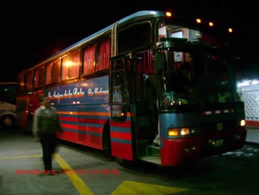 BUS DE LA EMPRESA TURISMO DE COLORES viaje en bus