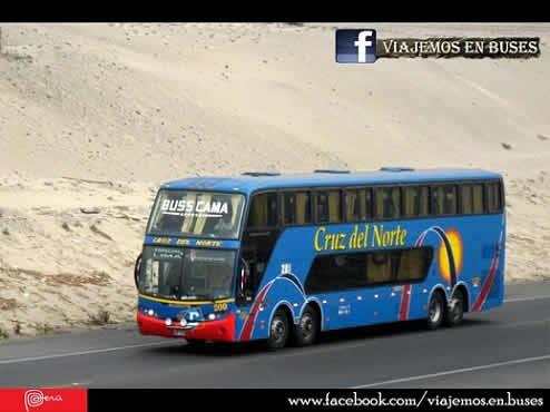 Bus Busscar-Scania K380 de la empresa Cruz del Norte