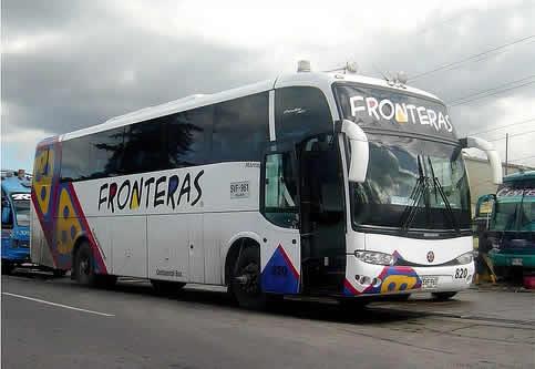 Fronteras viaje en bus